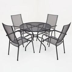 Kettler Quito stapelbaar met strekmetalen tafel - 105cm
