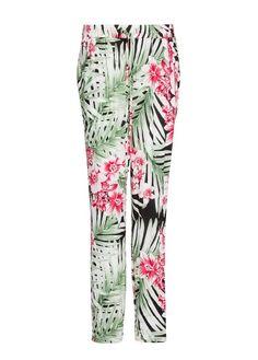 MANGO - Print leafs baggy trousers