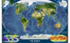 текстуры, страны, Карта мира