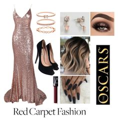 """""""Red carpet 👠"""" by joellefanoy on Polyvore featuring Miu Miu, Accessorize, ASOS and NARS Cosmetics"""