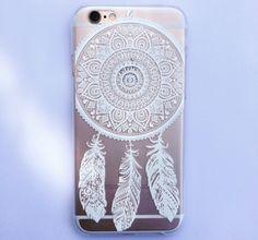 White Henna Dreamcatcher Print See Through Clear iPhone 5 5S Hipster Phone Case von StudsandSkulls auf Etsy https://www.etsy.com/de/listing/228818485/white-henna-dreamcatcher-print-see