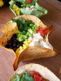 Baking with Blondie : Southwestern Chopped Salad inside Homemade Tortilla Bowls