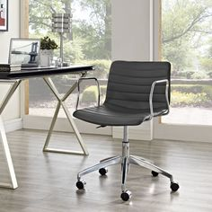 Bestow clean and minimalistic style to your office environment by choosing this Modway Celerity Office Chair in Gray. Adjustable Office Chair, Mesh Office Chair, Office Chairs, Modern High Chair, Pedicure Chairs For Sale, Conference Room Chairs, Grey Office, Office Furniture Stores, Ikea Furniture