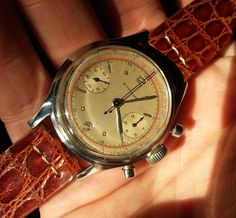 """And we're back! It's been a while since our last round-up of the most  compelling vintage watches for sale on the web. For today's installment  of """"What's Selling Where,"""" we've got a bit of a theme - vintage  two-register chronographs. Two register manually wound chronographs can  be viewed in a multitude of ways - in some cases they are """"paired down""""  versions of the a three register chrono, and in others, they are  considered more elegant and pure, often times cased in gold with fancy…"""