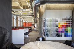 FilzFelt swatch wall at Knoll Showroom San Francisco by Architecture Research Office #filzfelt