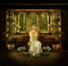 Goldberry In the House of Tom Bombadil by JinxMim, Tolkien Photomanipulation, Lord of the Rings, Fellowship of the Rings, River Daughter Tolkien Books, Jrr Tolkien, Gandalf, Legolas, Celtic, Into The West, Water Lilies, The Hobbit, Hobbit Art