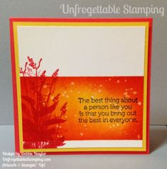 Unfrogettable Stamping | Fabulous Friday Pinterest-inspired card featuring the World of Dreams stamp set by Stampin' Up!