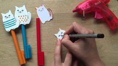 Back to School Pencil Toppers - Craft Foam Cats - DIY Pencil Case Accessories! Foam Crafts, Diy And Crafts, Crafts For Kids, Craft Foam, Pencil Topper Crafts, Pencil Toppers, Book Costumes, Diy Pencil Case, Super Cute Cats