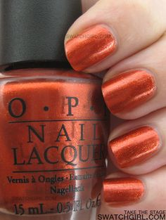 OPI - Take The Stage...the perfect burnt orange nail color =)