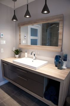 The post Badezimmer Inspiration. appeared first on Badezimmer ideen. Bad Inspiration, Bathroom Inspiration, Modern Bathroom Design, Bathroom Interior Design, Interior Modern, Bathroom Renos, Master Bathroom, Bathroom Cabinets, Bathroom Renovations