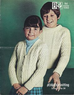 This sale is for a copy of a vintage knitting pattern. It will be emailed to you in PDF format which can be opened on your computer using