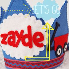 Red Ryder Birthday  - Boys Felt Birthday Crown - Red Wagon Party on Etsy, $32.00