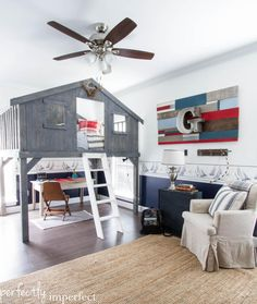 fort bed - perfect for using space well in a small room