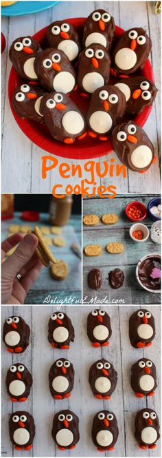 These delicious Penguin Cookies are the perfect treat for your next holiday party or get-together. Made with Town House Crackers and few other goodies, these cookies will be loved by everyone in the family! christmas food and drink Christmas Sweets, Christmas Candy, Holiday Baking, Christmas Desserts, Christmas Baking, Funny Christmas, Family Christmas, Christmas Food Treats, Christmas Holiday