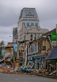 Damaged business district, Christchurch, NZ, 22 Feb 2011