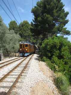 """Mallorca - the """"Red lightning"""", a nostalgic train between Palma and Soller, nearly 100 years old and definitely worth a ride!"""