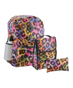 Another great find on #zulily! Leopard Backpack Set by Penguin Kids Wear #zulilyfinds