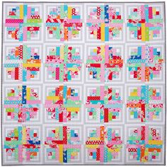 And a Picture Post. Curvy Log Cabin Quilt48.5 inches x 48.5 inches832 pieces64 Log Cabin...   Red Pepper Quilt