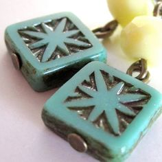Bohemian Summer Earrings Turquoise & Pale by PaganucciDesigns, $20.00