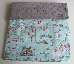Michael Miller Retro Tourist Vacation Fabric and by sewbrookstone, $28.00