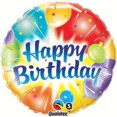 Happy Birthday Ablaze Packaged Balloon 18