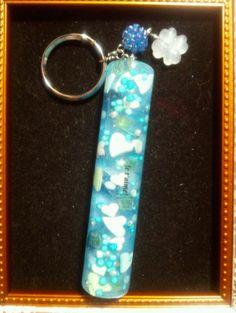 blue stick key chain for valentine