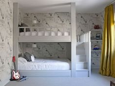 mommo design: 8 COOL BUNK BEDS Because we are lucky to even have a one bedroom apartment. :-) (Cool Beds With Desks) Bunk Beds Built In, Cool Bunk Beds, Bunk Beds With Stairs, Kids Bunk Beds, Amazing Bunk Beds, Boys Bedroom Ideas With Bunk Beds, Cool Kids Beds, Full Size Bunk Beds, Loft Beds