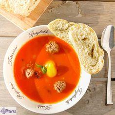 4 delicious recipes: beef stock, easy Italian tomato soup, homemade basil pesto and no-knead pesto bread