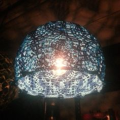 Crochet lampshade!