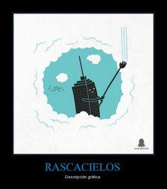 Rascacielos: Descripción gráfica (vocabulario: juegos de palabras) - Visit http://www.estudiafeliz.com for more materials for Spanish teachers and students!