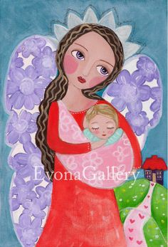 This is a print of a original work I made titled Sleeping Baby. The original painting was made of acrylics and oil paint. The size of the print