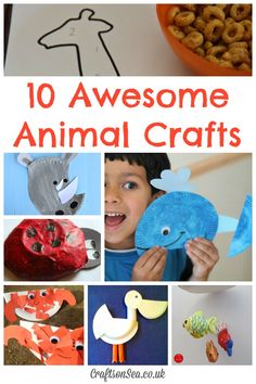 10 Awesome Animal Crafts: Tuesday Tutorials - Crafts on Sea