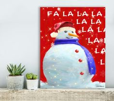 Gift christmas decorations christmas gifts wall art by MarryMeArt