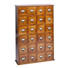 I LOVE card catalogue style storage. So hard. And I'm super excited that target finally has some!