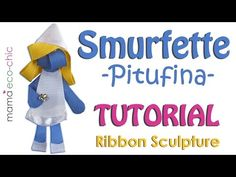 These creations are great attached to your hair accessories such as hair clips, headbands or diadems. Origami Ribbon, Smurfette, Ribbon Sculpture, Bow Tutorial, Ribbon Crafts, Baby Crafts, How To Make Bows, Disney Inspired, Craft Gifts