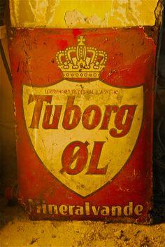 Vesterbro vinstue - old Tuborg advertisement board