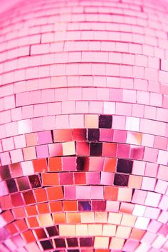 pink disco ball!
