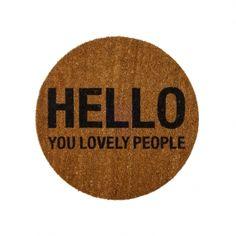 'Hello You Lovely People' måtte fra Bloomingville