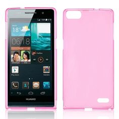Huawei Ascend P7 Ultra dunne case, cover, hoesje, frontje roze