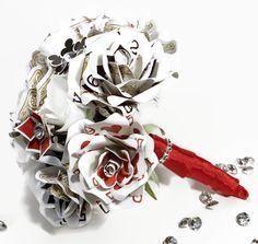 Poker Card Wedding Bouquet, Ultimate Vegas Wedding Decor, Playing Card Flowers, Rhinestone Crystal, Unique Bridal Bouquet, Bridesmaid Flower by ThePaintedPetaler on Etsy https://www.etsy.com/listing/267463500/poker-card-wedding-bouquet-ultimate