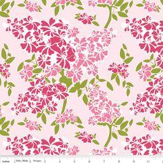 Manufacturer: Riley Blake Designs Designer: Carina Gardner Collection: Dainty Blossoms Print Name: Floral in Pink