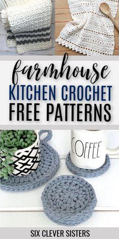 Crochet Potholder Patterns, Crochet Dish Towels, Crochet Kitchen Towels, Crochet Pillow Pattern, Modern Crochet Patterns, Table Cloth Crochet, Cotton Crochet Patterns, Crochet Towel Holders, Knitting Patterns
