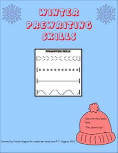 free printable to practice winter prewriting skills with the book The Snowy Day, Ezra Jack Keats #preschool