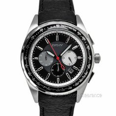 DKNY Mens Chronograph Watch (NEW) Black/Gray Dial w/ Date Leather Band $175 MSRP