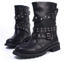Cheap Women's Boots, Buy Directly from China Suppliers:Knight Short Boots women's boots leather boots snow boots locomotive buckles rivet Motorcycle boots fashion boot 2011 New Style