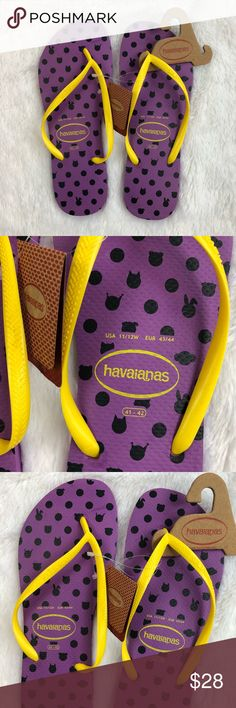 Havaianas Flip Flops Thongs Purple 11/12 11 12 Havaianas  Flip Flops  Purple  Size 11/12 43/44  New with tags               (P-5,6-5) Havaianas Shoes Sandals