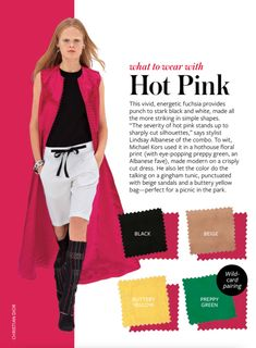 SPRING 2015 Hot Pink - yellow green black