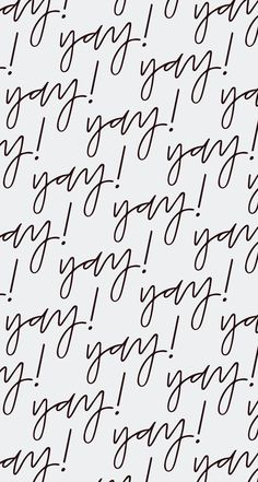 'Yay Print' desktop iphone wallpaper