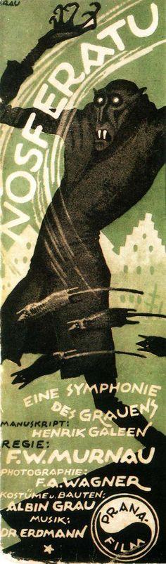 """""""Nosferatu, eine Symphonie des Grauens"""" (1922) directed by F.W. Murnau Confira os nossos artigos dedicados aos Filmes de Terror em http://mundodecinema.com/category/filmes-de-terror/"""