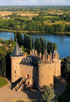 Château de Combourg, Ille-et-Vilaine, was the bithplace of the great writer François-René de Chateaubriand. Ille-et-Vilaine. Brittany